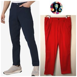 NWOT Lululemon ABC Pant in Prince Red (Rare)